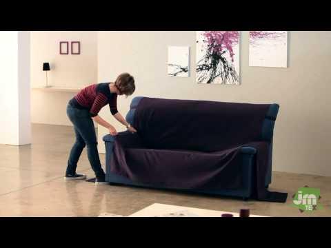 Sofa-Schoner mit angehnähten Armlehnen