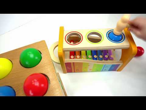 Preschool Toys Teach Colors and Counting for kids! Genevieve Joins the Ball Pounding Fun!