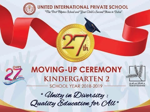 27th MOVING UP CEREMONY KINDERGARTEN 2 SCHOOL YEAR 2018 - 2019