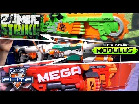 Nerf 2016 (Summer, Fall) - Mega, Rivals, Modulus, N-Strike, Zombie Strike, Doom Lands