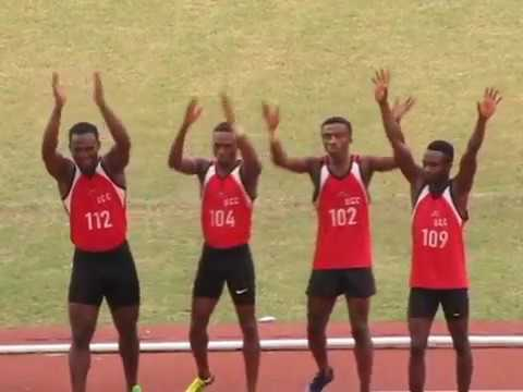 Mens 4x100m relay at 7th Mini-GUSA Games(3-13 January, 2017)