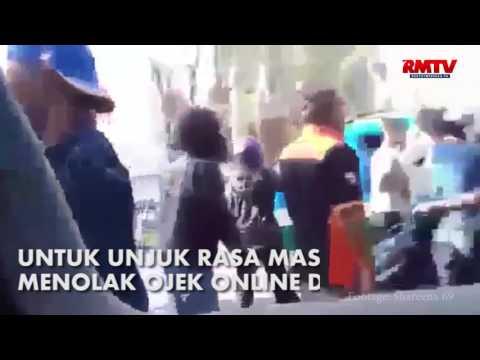 Aksi Main Hakim Rombongan Sopir Angkot Di Bandung