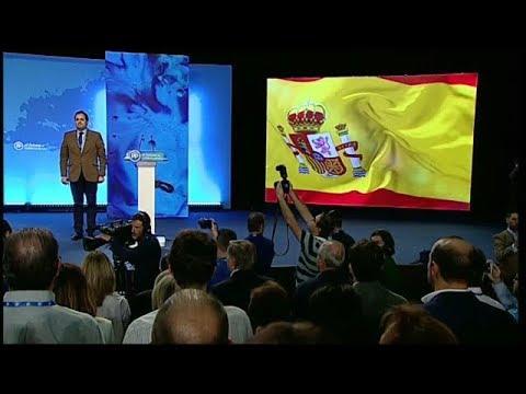 Himno de España durante 14 Congreso Autonómico