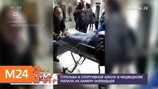 Очевидцы сняли стрельбу в спортивной школе в Медведкове — Москва 24