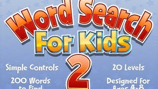 Word Search for Kids 2 YouTube video