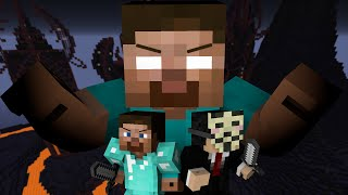 Pro and Hacker VS. Herobrine - Minecraft