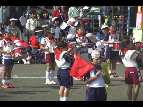 泉崎幼稚園運動会マーチング 2010