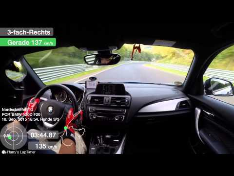 BMW F20 120D Stock - Nürburgring BTG 10.09.2015 (видео)