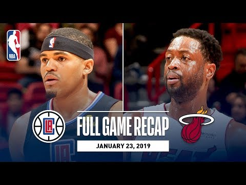 Video: Full Game Recap: Clippers vs Heat | Tobias Harris Goes For An Efficient 31 Points