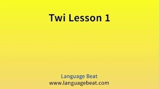Visit languagebeat.com for information about these free languagebeat.com audio lessons. At languagebeat.com you can also find where to download the Learn Twi manual that can be used to accompany these free audio lessons.