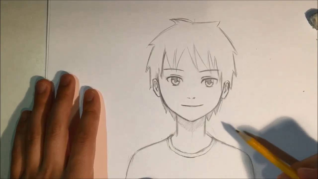 How To Draw Anime Male Face [slow Narrated Tutorial] [no Timelapse] #