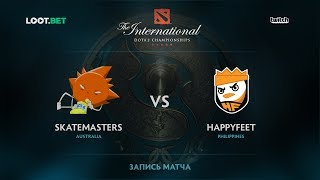 Skatemasters vs HappyFeet, The International 2017 SEA Qualifier