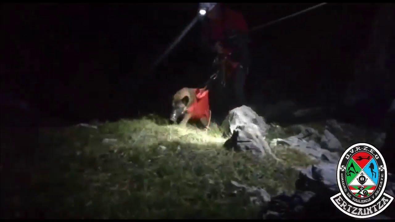 El vídeo del rescate de un perro en Atxarte que te va a emocionar