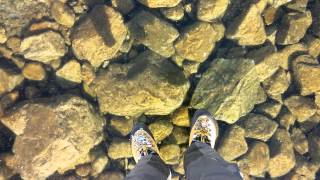 Walking On Beautiful Clean Ice In Slovakian Mountains