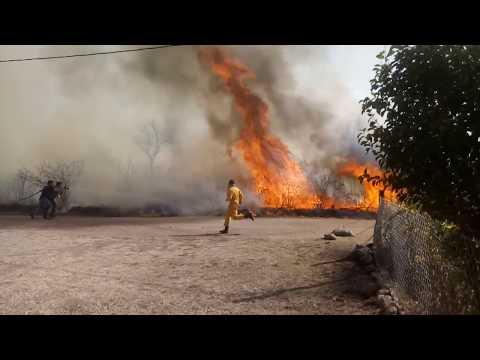 Cerro de Oro: Limpiaban un terreno, prendieron fuego y provocaron un incendio