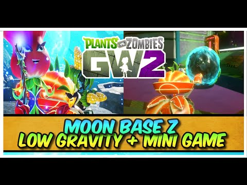 Plants vs Zombies Garden Warfare 2 - Moon Base Z Herbal Assault Mini Game + Low Gravity!
