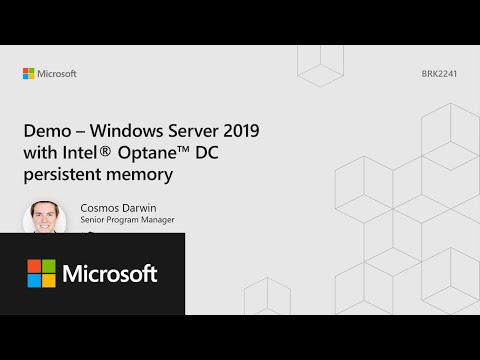Demonstração do pMem do Microsoft Ignite 2018