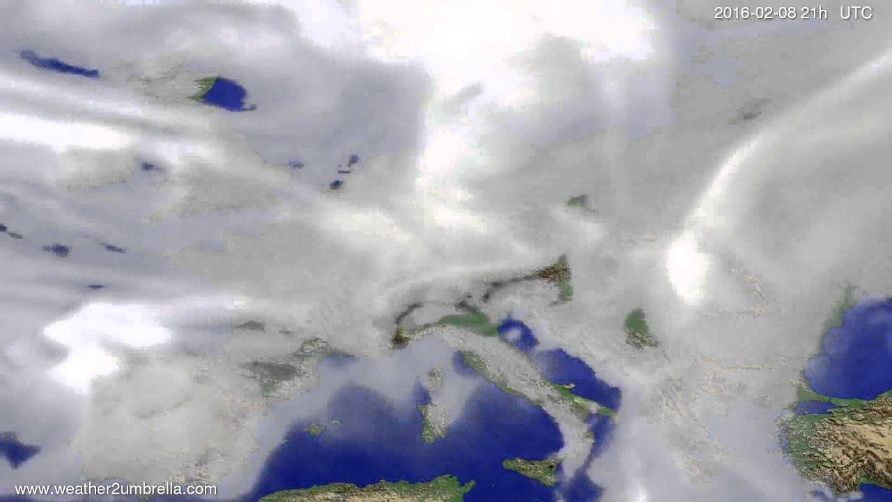 Cloud forecast Europe 2016-02-05