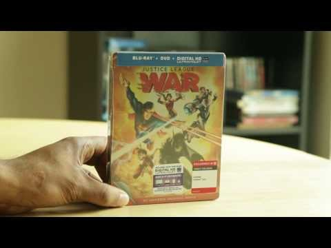 Justice League War Blu-ray DVD Unboxing