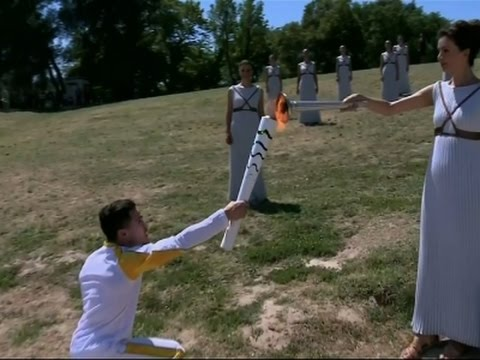 Raw: Olympic Flame Lit in Greece