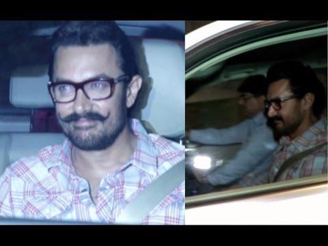 Aamir Khan Spotted At Imran Khan House