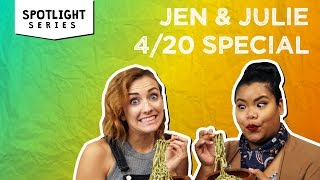 Pot-Infused Pesto Pasta + The Hilarious Aftermath | Jen & Julie by Tastemade
