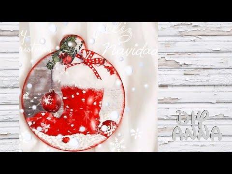 decoupage legno - decorazione natalizia