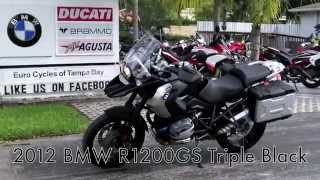 9. Pre-Owned 2012 BMW R1200GS Triple Black at Euro Cycles of Tampa Bay