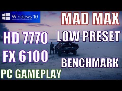MAD MAX 2015 HD 7770 FX 6100 WINDOWS 10