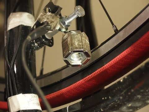 DIY Magnetic contactless bike dynamo TEST #1