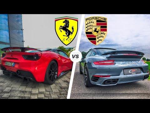 Porsche 911 Turbo S 2017 vs Ferrari 488