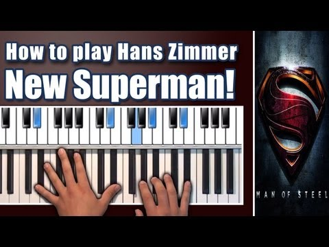How To Play: An Ideal Of Hope - Piano - Hans Zimmer - Tutorial/Lesson - Man Of Steel Soundtrack