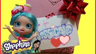 Hello Princesses today Jessicake has a secret admirer  :)  Jessicake is opening her special surprise that comes with 6 exclusive Shopkins .This box includes exclusives repaints from Season 1, Season 3, and Season 4. Well please enjoy this video! I will posting more great videos!! Stay tune to see if Jessicake will find out her secret admirer ;) I hope you enjoy this video !~~~~~~~~~Follow me on~~~~~~~~~~~Facebook: https://www.facebook.com/pages/Fairly...Instagram:https://instagram.com/fairlyevi/Twitter:https://twitter.com/fairlyevi~~~~~~~~~~~~~~~~~~~~~~~~~~Thank you princesses for watching ❤️Remember Dreams do Come True!!_________Videos you will like ___________New Shopkins Go Shopping Card Game by Moose Toys Review https://www.youtube.com/watch?v=K1q-nzx4X5EShopkins Season 3 Food Fair Playset Sweet Treats Exclusive Shopkins Cupcake Collection Playset https://www.youtube.com/watch?v=oCueJtmu-18Opening Shopkins Cool Casual Collection Playset Season 3 Fashion Spree https://www.youtube.com/watch?v=4ATzWnnhreQOpening Shopkins trading cards Deluxe Packs Bullsitoy https://www.youtube.com/watch?v=AHRCwV_GcJ0Shopkins Season 3 Playset Ballet Collection Fashion Spree w/ Exclusive Piano Music Box Toy Unboxing https://www.youtube.com/watch?v=hb8JFrCLCYIShopkins Stacking Challenge!! https://www.youtube.com/watch?v=vvFQZd72neYShopkins Season 3 Mega 20 Pack Opening! https://www.youtube.com/watch?v=BPHCncnueyEALL NEW SHOPKINS - COLLECTOR TRADING CARDS OPENING! By Bulls-i-Toy https://www.youtube.com/watch?v=JHhnPBrhASsSHOPKINS SEASON 3 - Blind Baskets Plus 5 pack Opening https://www.youtube.com/watch?v=x_b5js2OE4EFairly Evi is a SUPER FUN KID FRIENDLY channel for kids of ALL ages to watch! I like to review and open  Princess Dolls,Play Doh, Spongebob, Angry birds, Barbie, My little pony, LEGO, Talking Tom, Kinder surprise eggs with collecting toys inside, Orbeez sets, Cinderella, despicable Me, Minions, Shopkins season 1, season 2, season 3, season 4 ,. PeppaPig Pocoyo Bubble Guppie