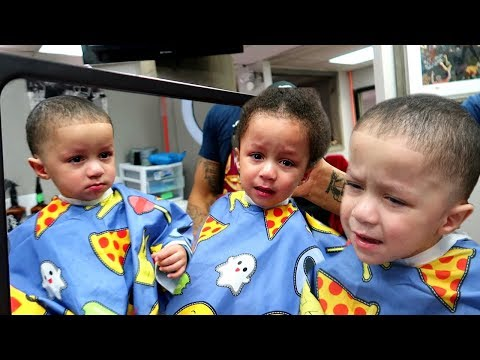 Josiah and Eli's First Haircut!!