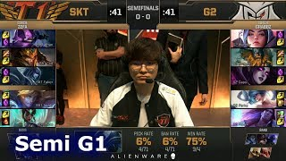 Video SK Telecom T1 vs G2 eSports - Game 1   Semi Final LoL MSI 2019   SKT vs G2 G1 MP3, 3GP, MP4, WEBM, AVI, FLV Agustus 2019
