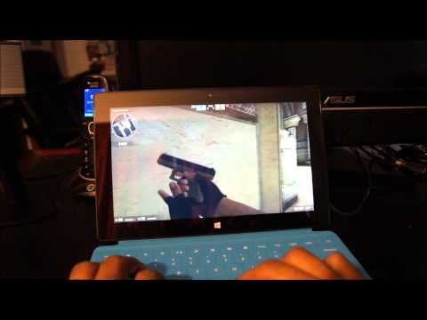 Watch: Counter-Strike Global Offensive on a Surface Pro Tablet