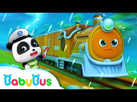 Super Train Delivers The Cargo | Super Panda Rescue Team |  Monster Police Truck | BabyBus
