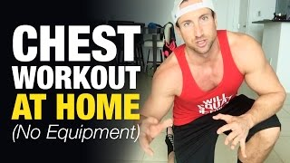 Hey, skinny guy... Here's how to gain weight fast:http://www.weightgainblueprint.com/view/yt13lThis chest workout at home for men is going to help you blast your pectoral muscles and sculpt a defined upper chest.Time to shock them man-titties into anabolic growth! One of the best ways to channel a powerful mass building mind-muscle connection and fuel some new gains is to make the transition to adding in a few intense bodyweight regimens.Now - for optimal results these should not completely replace your weight room workouts, but rather be thrown into the mix.Tired of the same boring chest workout routine? Don't have enough time to hit the gym for chest day? No worries! This chest workout that you can do from home will help you develop an aesthetic looking chest and only takes about 10 total minutes.I recommend that you keep your rest times pretty short on these exercises, and really work on squeezing your chest throughout the workout.Just in case you don't have time to watch the entire video, or need a quick recap - here is the complete list of exercises:Exercise 1: In-Out Push-UpsExercise 2: Eccentric Shoulder Tap Push-UpsExercise 3: Chest Tap Push UpsExercise 4: Eccentric Diamond Push-ups superset with Upper Chest IsometricsThis is the complete chest workout routine - and puts a huge emphasis on your upper chest which most guys are lagging on.See the full blog post here: http://www.weightgainnetwork.com/workouts/chest-workout-at-home-for-men-build-mass-without-equipment.phpThe 7 Hardgainer Mistakes That Are Keeping You Skinny:★ http://www.weightgainblueprint.com/view/yt13lComplete Weight Gain Program:★ http://www.WeightGainBlueprint.com[ GET OUR LATEST VIDEOS ]Click here to subscribe:► http://bit.ly/Subscribe-To-WGNCheck out the rest of the videos:https://www.youtube.com/user/WeightGainNetwork/videos[ FIND US ONLINE ]Website:http://www.WeightGainNetwork.comFacebook:https://web.facebook.com/weightgainnetwork/Twitter:http://www.twitter.com/WeightGainNetGoogle+:https
