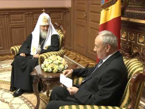 Президент Николае Тимофти принял в президентской резиденции патриарха Московского и всея Руси Кирилла