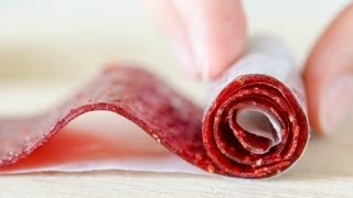 Homemade Strawberry Fruit Rollups Recipe | How to Make Fruit Leather - YouTube