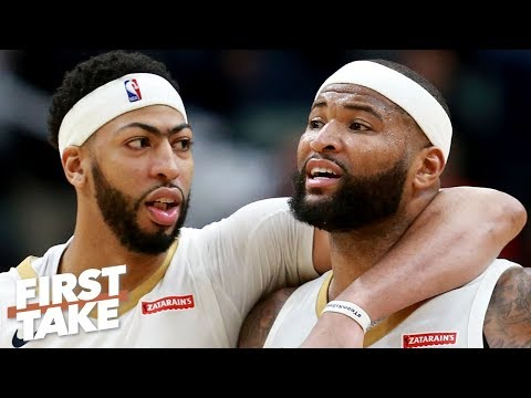 Video: Anthony Davis and JaVale McGee make up for the loss of DeMarcus Cousins - Stephen A. | First Take