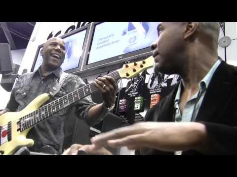 Nathan East (Eric Clapton, Fourplay, etc.) played at our booth with David 'Fingers' Haynes. Nathan used his touring rig - a Blacksmith amp and 2 RS410 cabinets!