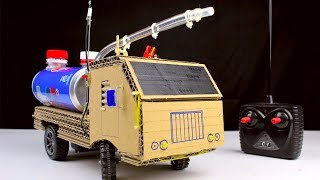 Video How to make RC Fire Truck from Pepsi cans and Cardboard - Diy Remote control car at home MP3, 3GP, MP4, WEBM, AVI, FLV Juni 2018