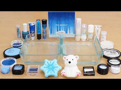 Icy Polar Bear - Mixing Makeup Eyeshadow Into Slime ASMR
