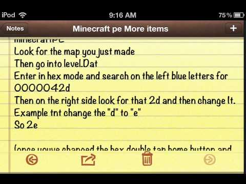 Minecraft Pocket edition more items [OUTDATED]