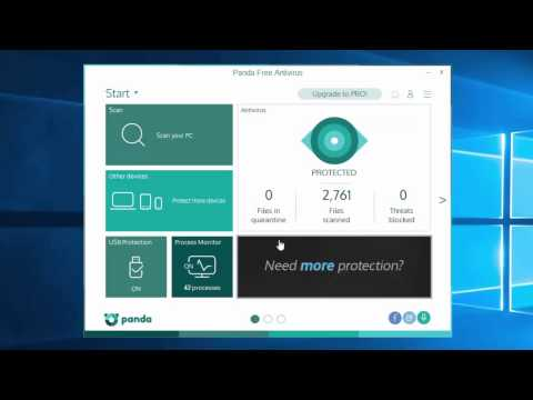 Panda Free Antivirus tutorial