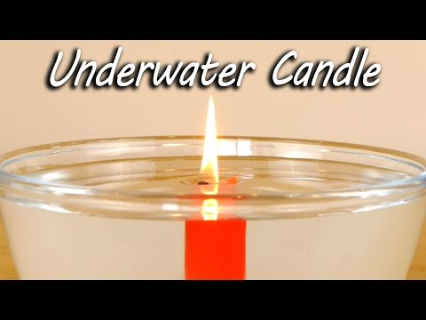 Watch A Candle Burn Underwater