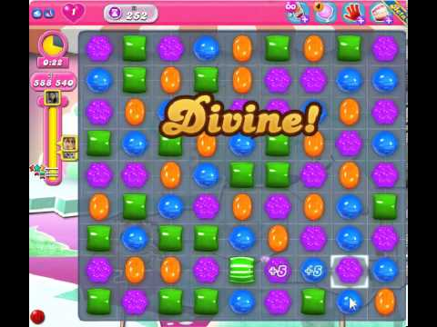 Candy Crush Saga Level 252 - 3 Star - no boosters - endless game