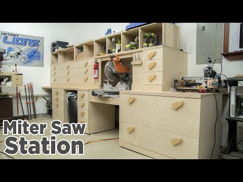 Miter Saw Station Storage Boxes and Drawer Fronts - 196
