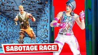 The SABOTAGE Deathrun Race in Fortnite... (Fortnite Creative)
